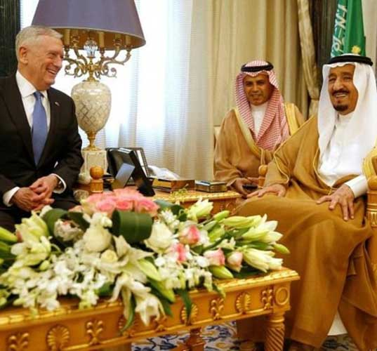 US Defense Secretary Meets Saudi King, Deputy Crown Prince