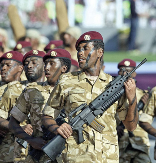 Qatar Armed Forces Conclude Riot Control Training Session