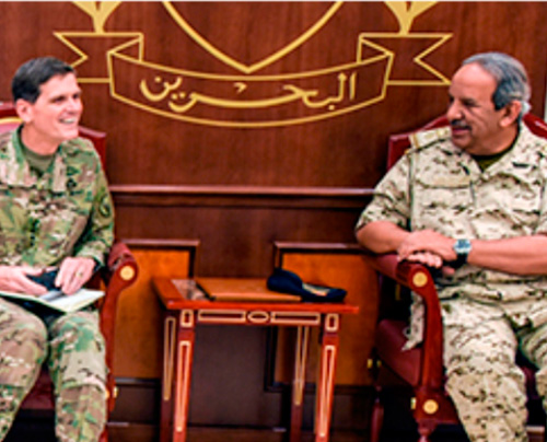 Bahrain Receives Commander of US Central Command
