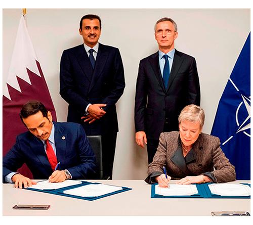 Qatar, NATO Sign Cooperation Agreement