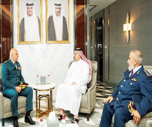 Qatar's Defense Minister, Chief-of-Staff Receive Commander of Lebanese Army
