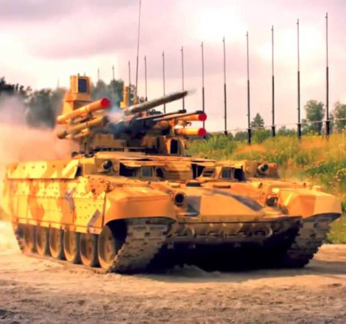 Russian BMPT-72 Combat Vehicle to Get New Guns