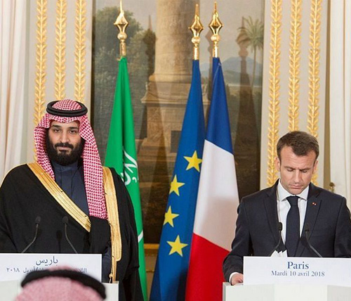 Saudi Crown Prince Concludes Visit to France, Heads to Spain