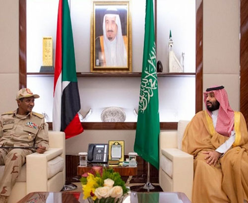 Saudi Crown Prince Meets Sudan's Transitional Council Deputy Chief