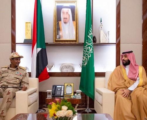Saudi Crown Prince Meets Sudan's Transitional Council Deputy Chief
