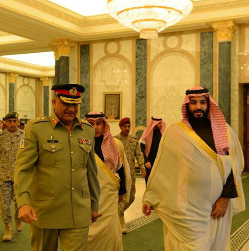 Saudi Crown Prince Receives Commander of Pakistani Army