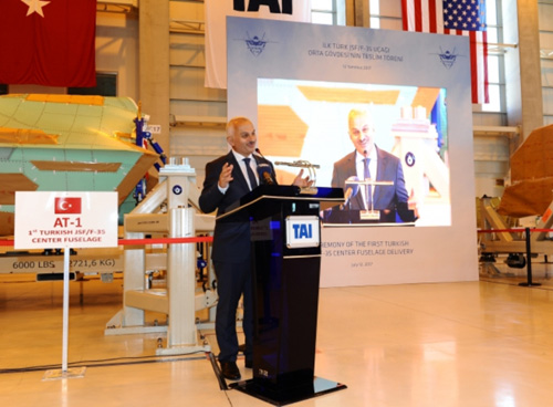 TAI Delivers 1st Turkish JSF/F-35 Center Fuselage