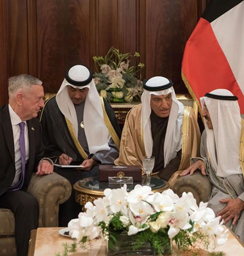 U.S. Defense Secretary Hails Relationship with Kuwait
