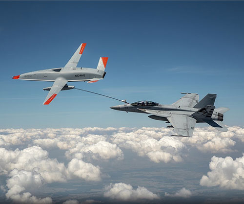 U.S. Navy's Boeing MQ-25 Becomes First Unmanned Aircraft to Refuel Another Aircraft