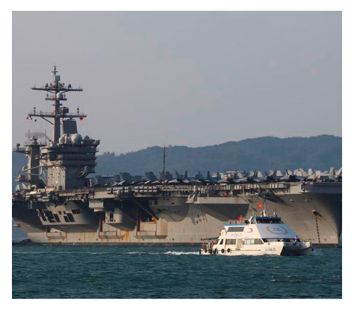 U.S. Navy Aircraft Carrier Pays Historic Visit to Vietnam