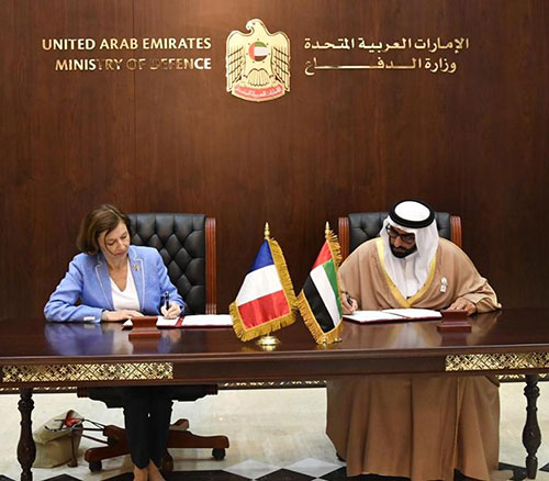 UAE, French Defense Ministers Sign Cooperation Document