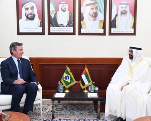 UAE Defense Minister Receives Chairman of Brazil's Defense Committee