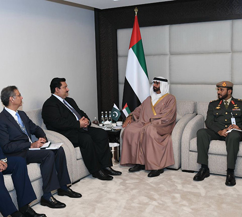 UAE Defense Minister Receives Counterparts at UMEX 2018