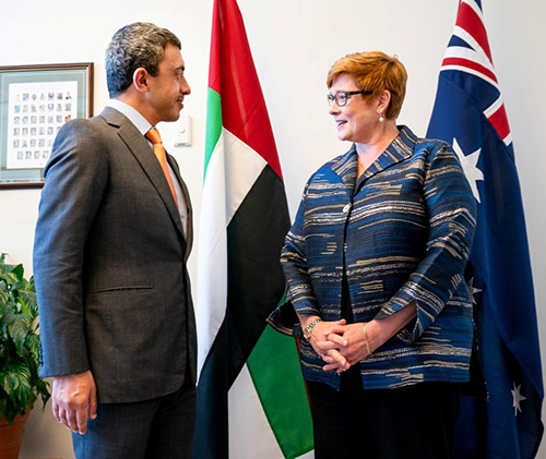 UAE Foreign Minister Meets Australian Defense Ministers