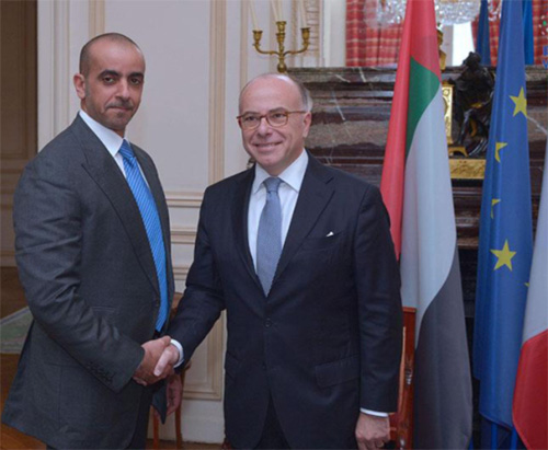 UAE Interior Minister Meets French Counterpart