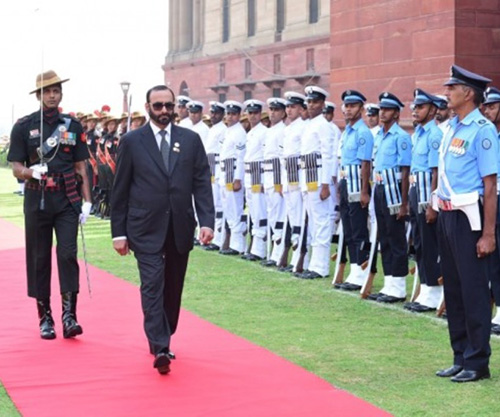 UAE Minister of State for Defense Affairs Visits India