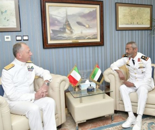 UAE Naval Force Commander Receives Italian Counterpart