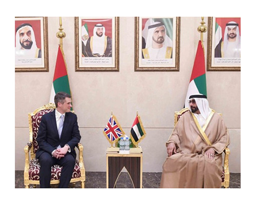UK Secretary of State for Defense Visits UAE