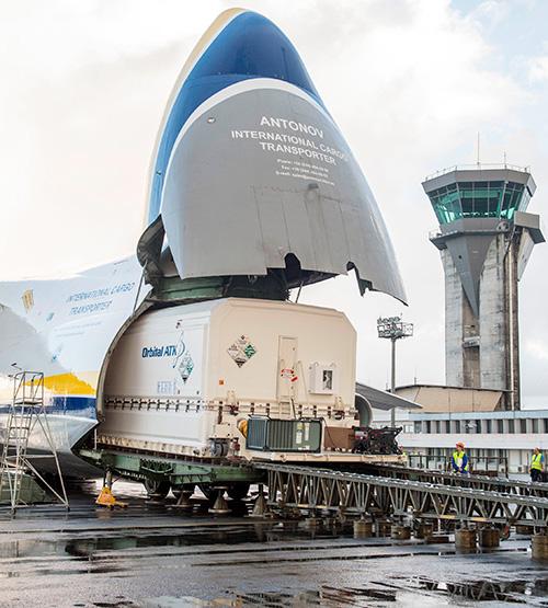 Yahsat's Al Yah 3 Satellite Arrives at Launch Site