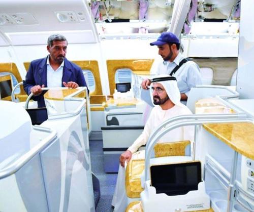 Dubai Ruler Tours Airbus Plant in Hamburg