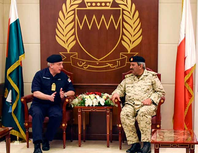 Bahrain's Chief Commander Receives UK's Naval Chief
