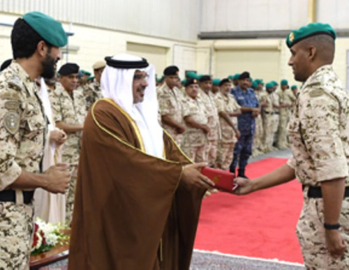 Bahrain's Crown Prince Visits Royal Guards Headquarters