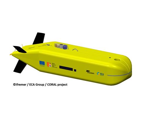Ifremer Selects ECA's Autonomous Underwater Vehicle
