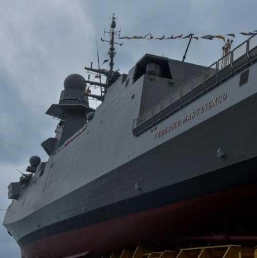 Fincantieri Launches 7th Multi Mission FREMM Frigate