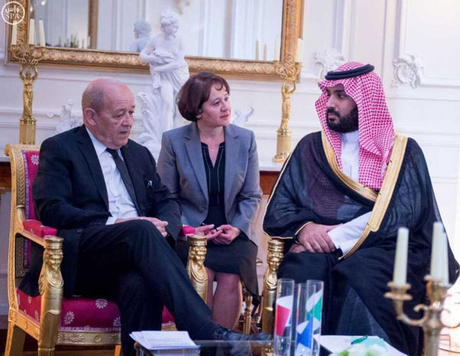 Saudi Defense Minister Meets French Counterpart
