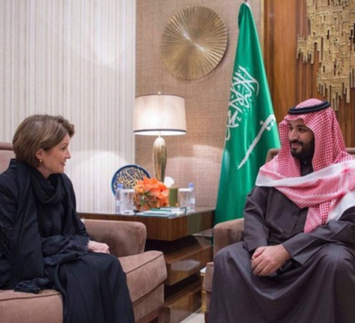 Saudi Defense Minister Meets Lockheed Martin's Chairman
