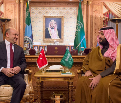 Saudi Defense Minister Receives Turkish Counterpart
