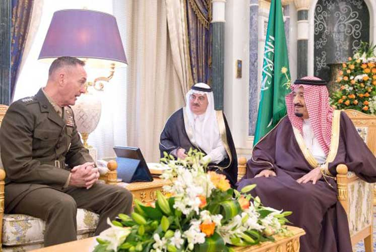 Saudi King Receives Chairman of US Joint Chiefs of Staff
