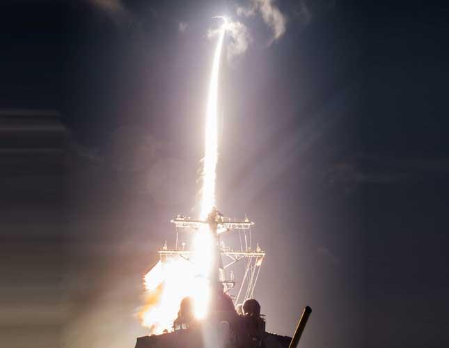 Aegis Combat System Engages Medium Range Ballistic Missile