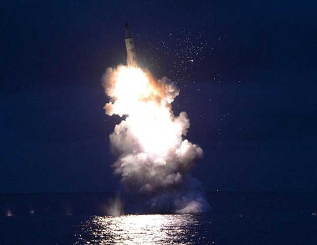 North Korea Fires Three Ballistic Missiles into Sea