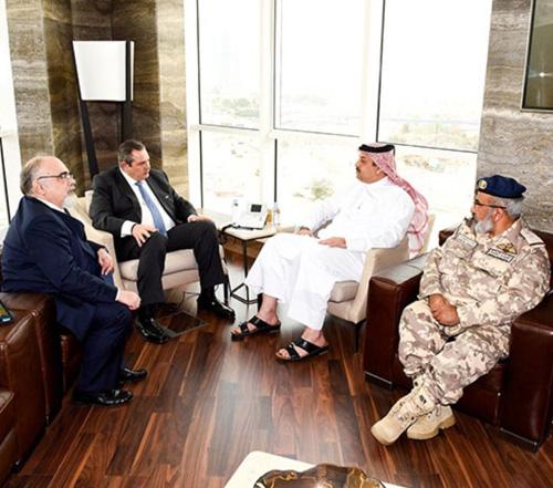 Qatar's Defense Minister Receives Greek Counterpart