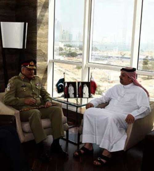 Pakistan's Chief of Army Staff Meets Qatari Officials
