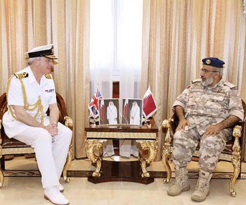 Qatar's Chief-of-Staff Meets U.K. Chief of Naval Staff