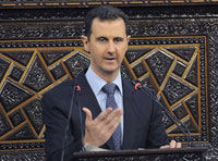 "Assad: ""We are Facing a Real War Waged from the Outside"""