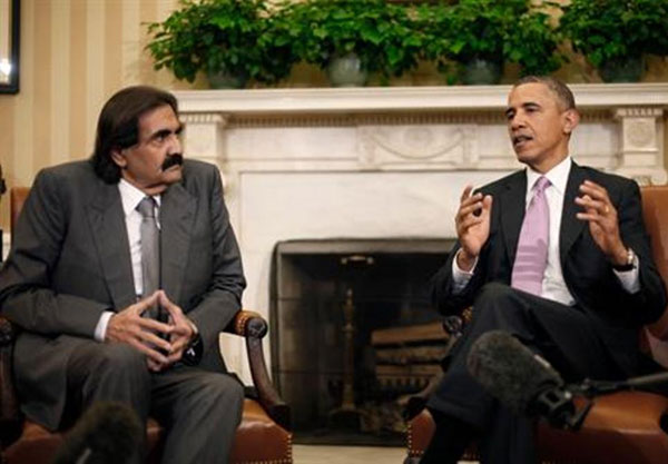 F07cObama-Qatar Emir Vow to Support Syrian Rebels