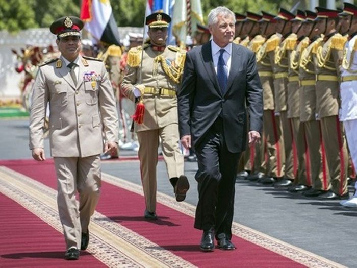 Hagel Continues His First Middle East Tour