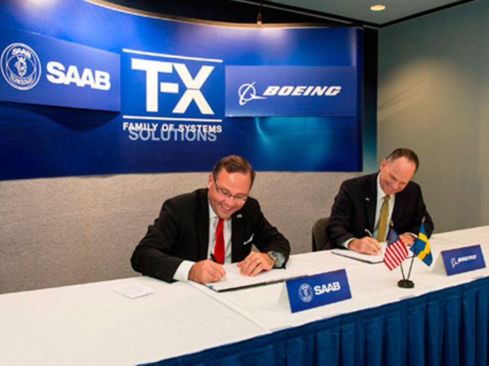 Boeing, Saab Sign Joint Agreement for T-X Competition