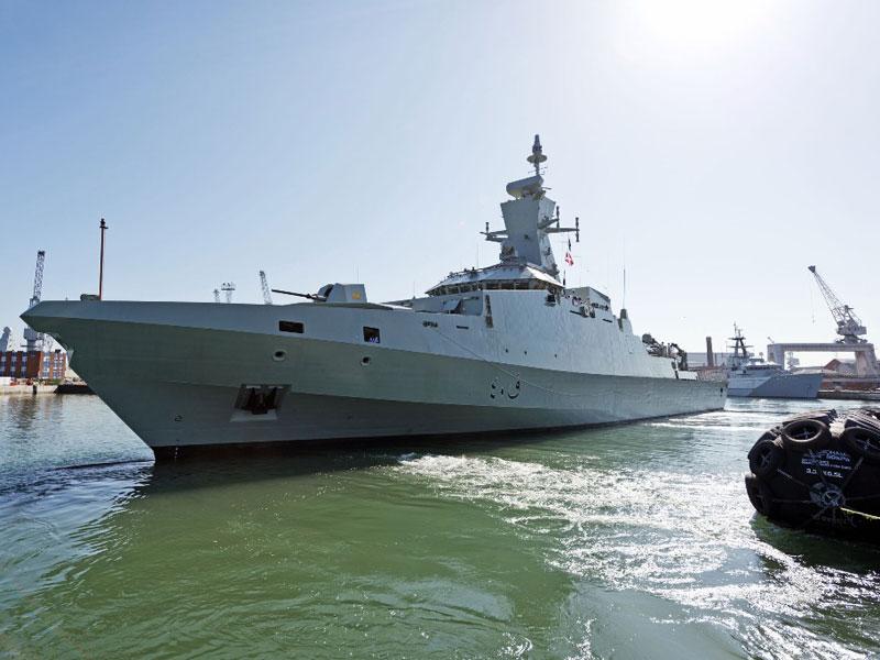 First Khareef Class Warship Reaches Oman