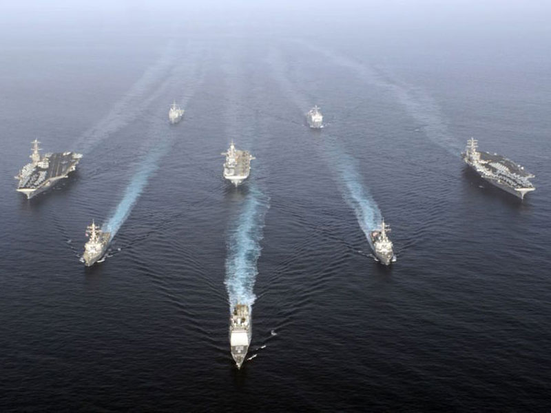 Major Naval Exercise Starts in the Gulf