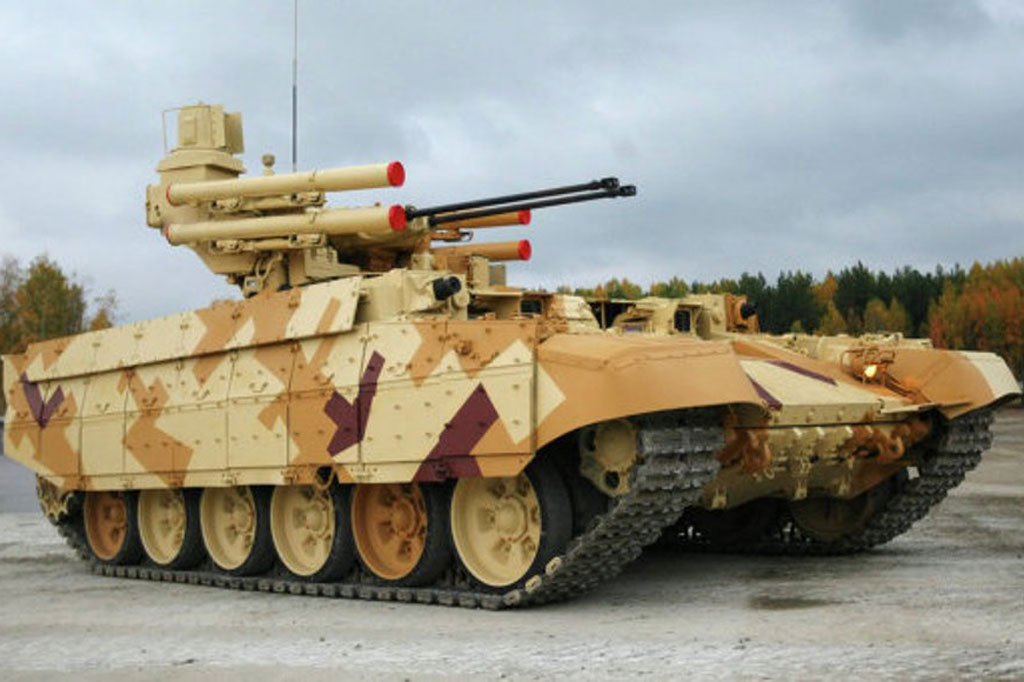 """Russia Unveils """"Terminator-2"""" Tank Support Vehicle"""