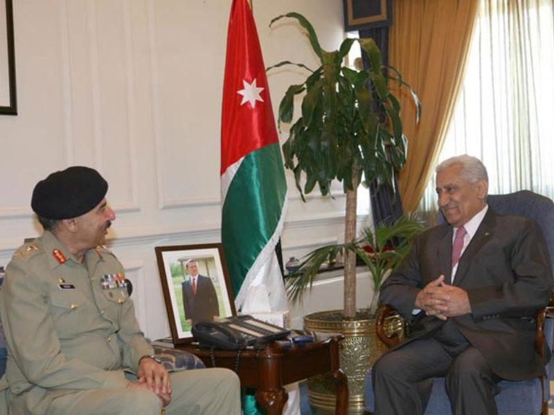Jordanian King, PM Receive Pakistan's Army Chief