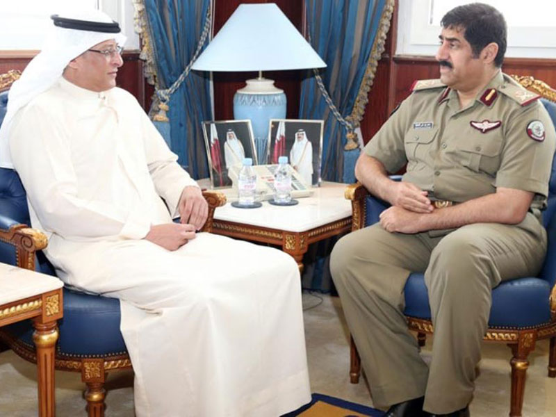 Qatar's Minister of State for Defence Meets 3 Ambassadors