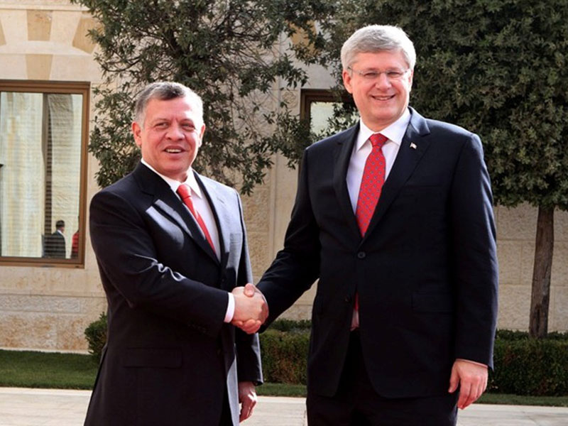 Jordan's King, Canada's PM Discuss Regional Threats