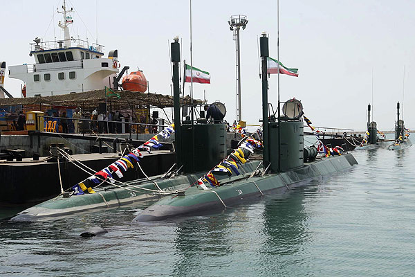 Iran Launches 4 New Submarines
