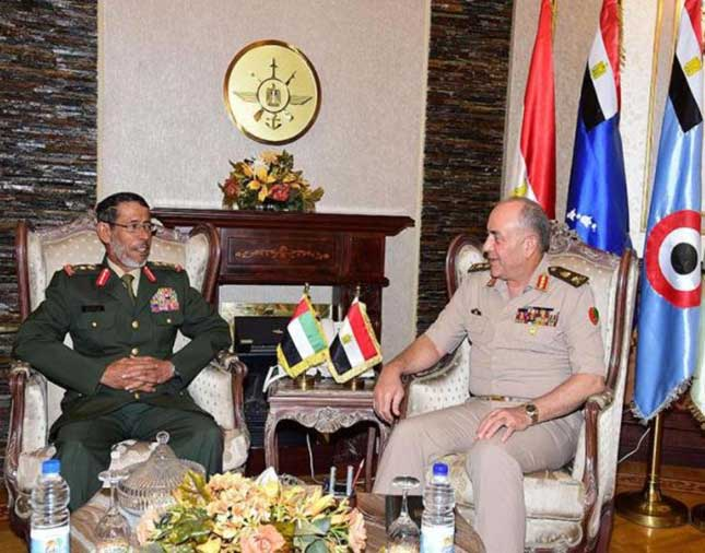 UAE Chief-of-Staff Meets Egyptian Counterpart