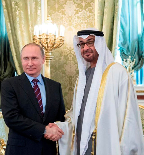 Abu Dhabi Crown Prince Meets Russian President